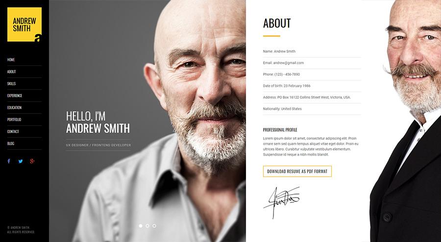 MEE – Responsive Resume / Personal Portfolio