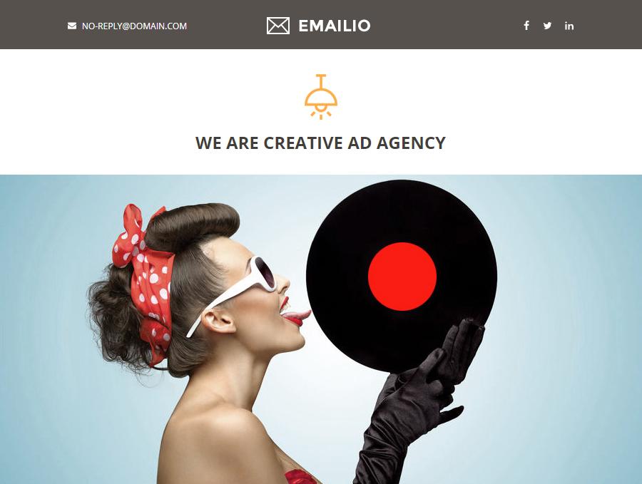Emailio Responsive Multipurpose Email Set & Email Builder