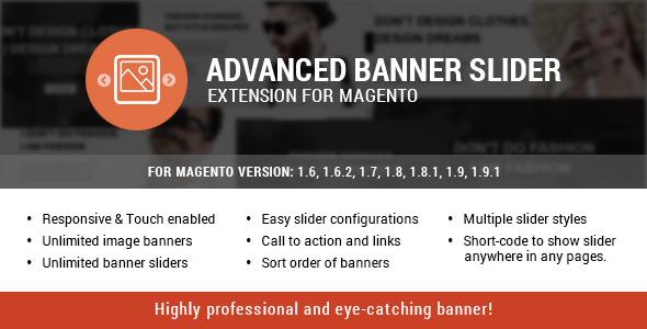 Advanced banner slider extension for magento
