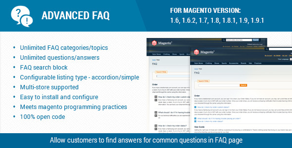 Advanced faq extension for magento