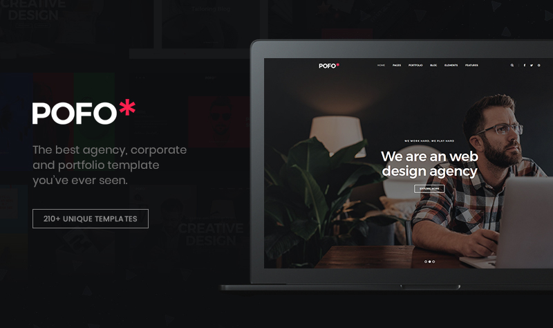 POFO – Creative Agency, Corporate and Portfolio Multi-purpose Template