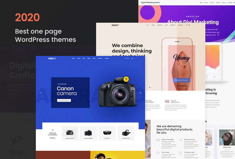 Get Started 2021 With 12 Best one page WordPress themes