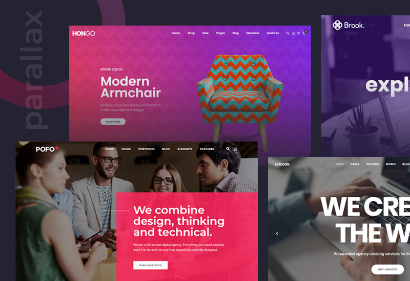 14+ stunning premium WordPress themes with parallax effect for corporate, portfolio & agencies for 2021