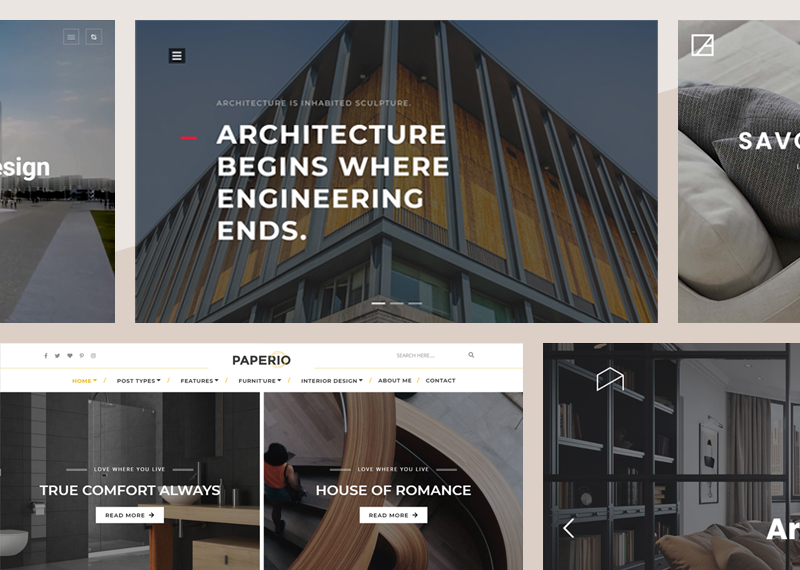 Build your beautiful and responsive architecture & design firm website with 15+ responsive WordPress themes