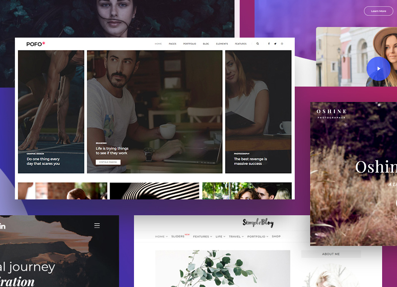 15+ Simple and easy to use WordPress themes for any blog & website