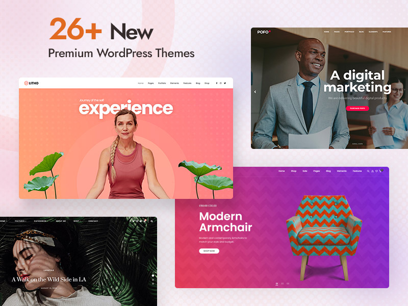 26+ New Premium WordPress themes to try before 2021 ends